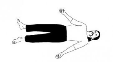 «Шавасана (йоговская практика глубокой релаксации) с подробным расслаблением всех частей тела»