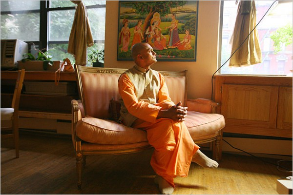 "Gadadhara Pandit Dasa, a Hindu chaplain at Columbia, says reincarnation is ""a re-do."" Credit Nicole Bengiveno/The New York Times"